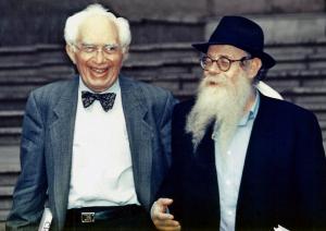 Ralph Goldman with Rabbi Steinsaltz